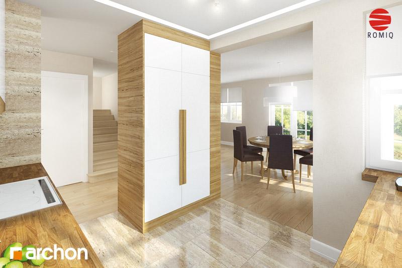 Проект будинку ARCHON+ Будинок в абрикосах аранжування кухні 2 від 2