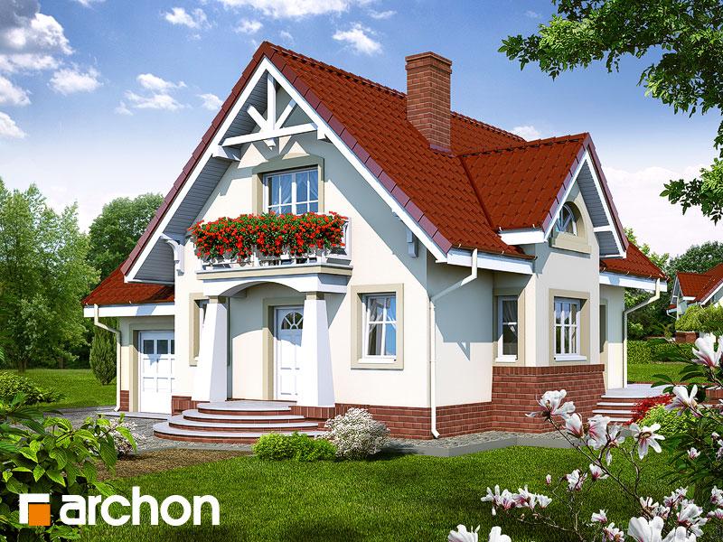 Проект будинку ARCHON+ Будинок в абрикосах Вид 1