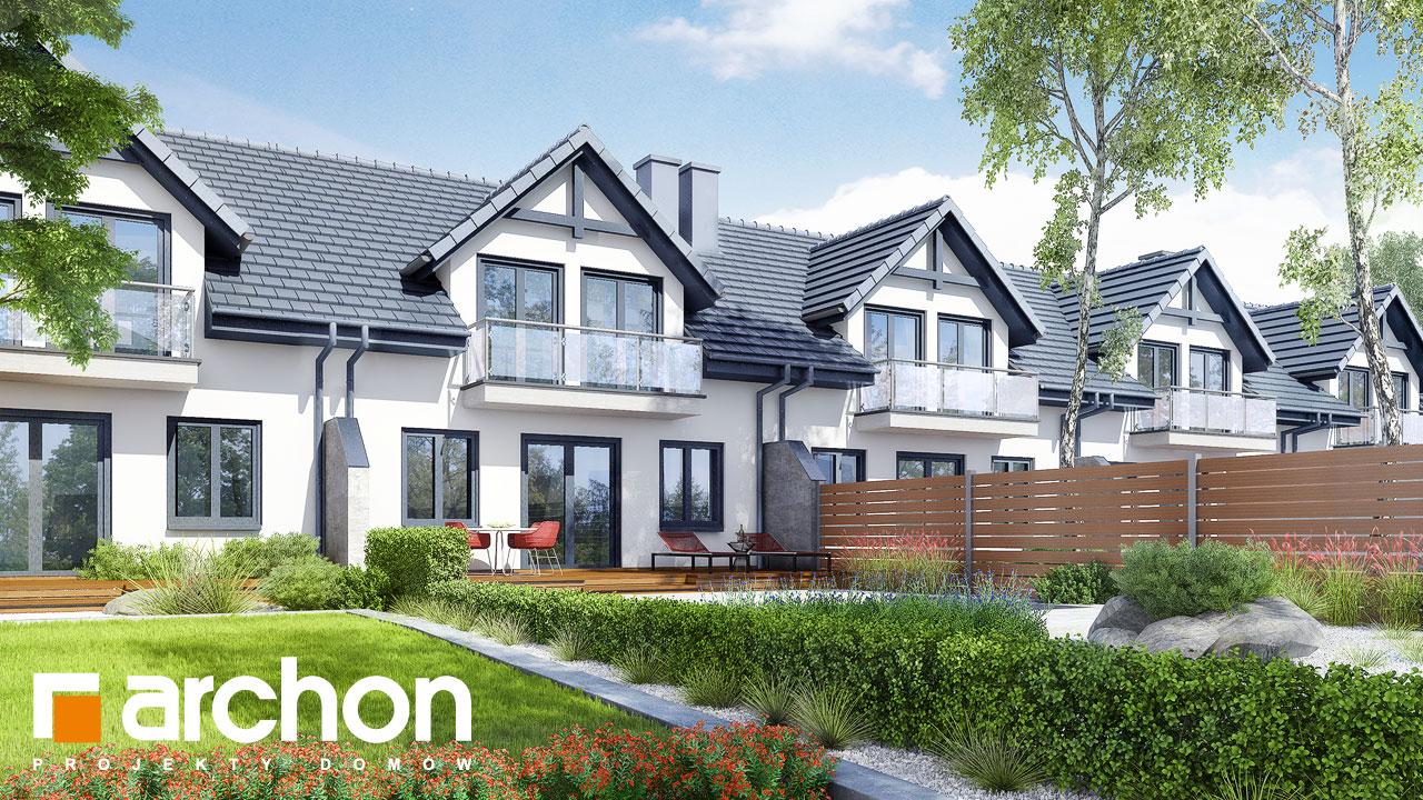 Проект будинку ARCHON+ Будинок в клематисах ver.3 візуалізація усіх сегментів