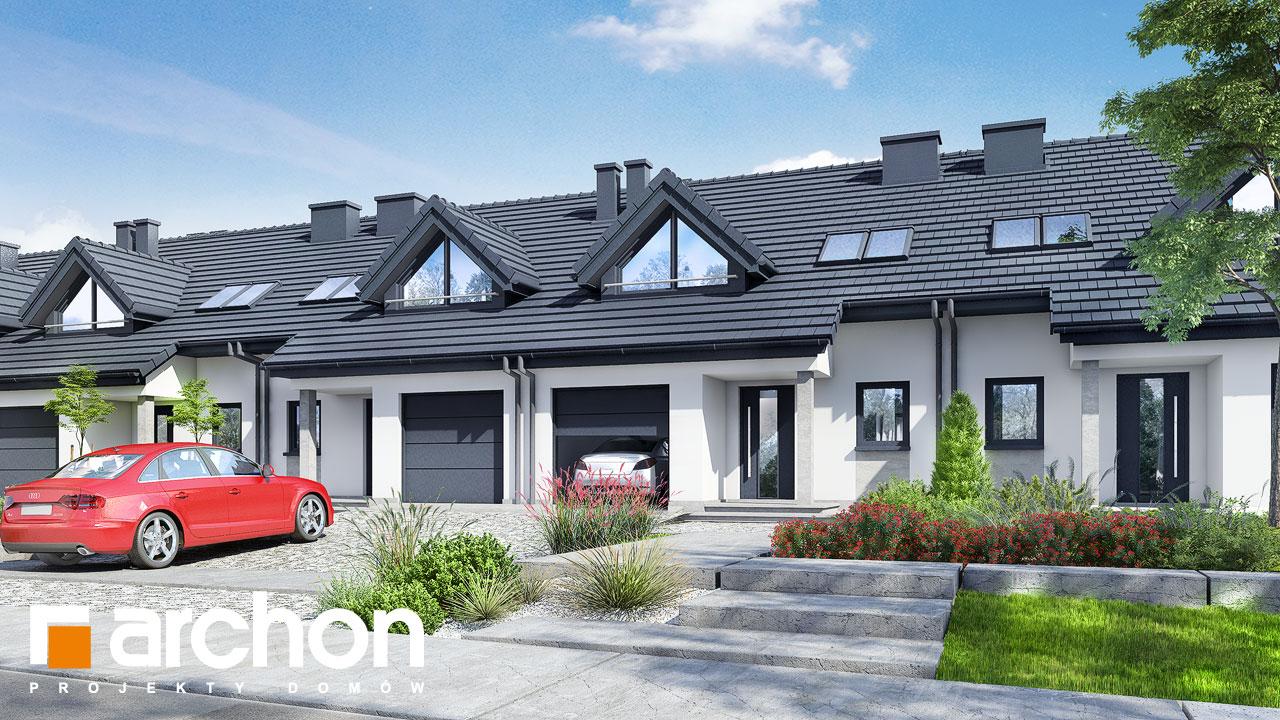 Проект будинку ARCHON+ Будинок в клематисах вер.3 візуалізація усіх сегментів