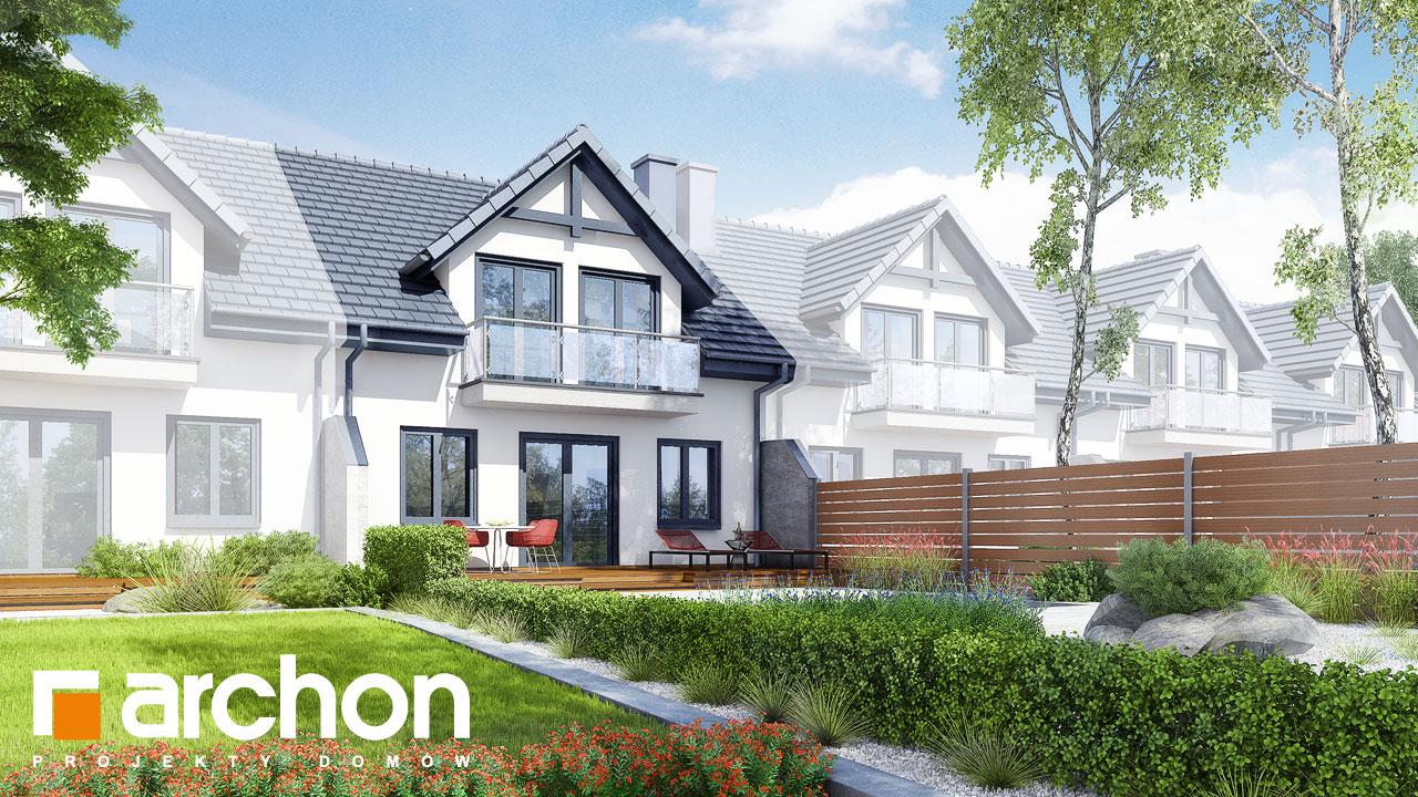 Проект будинку ARCHON+ Будинок в клематисах вер.3 Вид 2
