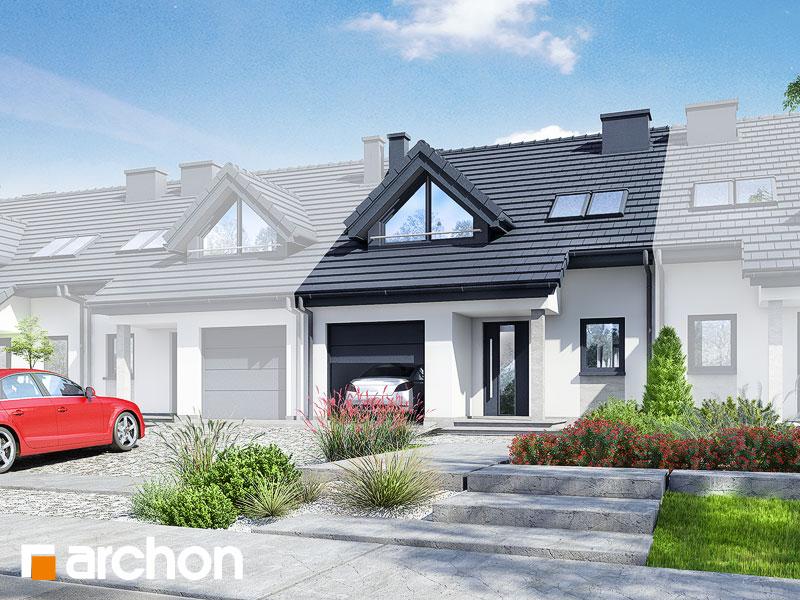Проект будинку ARCHON+ Будинок в клематисах вер.3 Вид 1