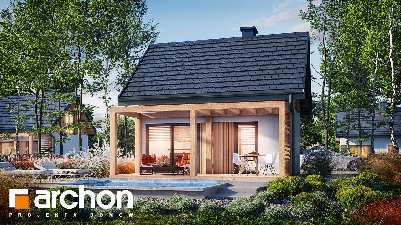 Проект будинку ARCHON+ Літній будиночок в крокусах 5 додаткова візуалізація