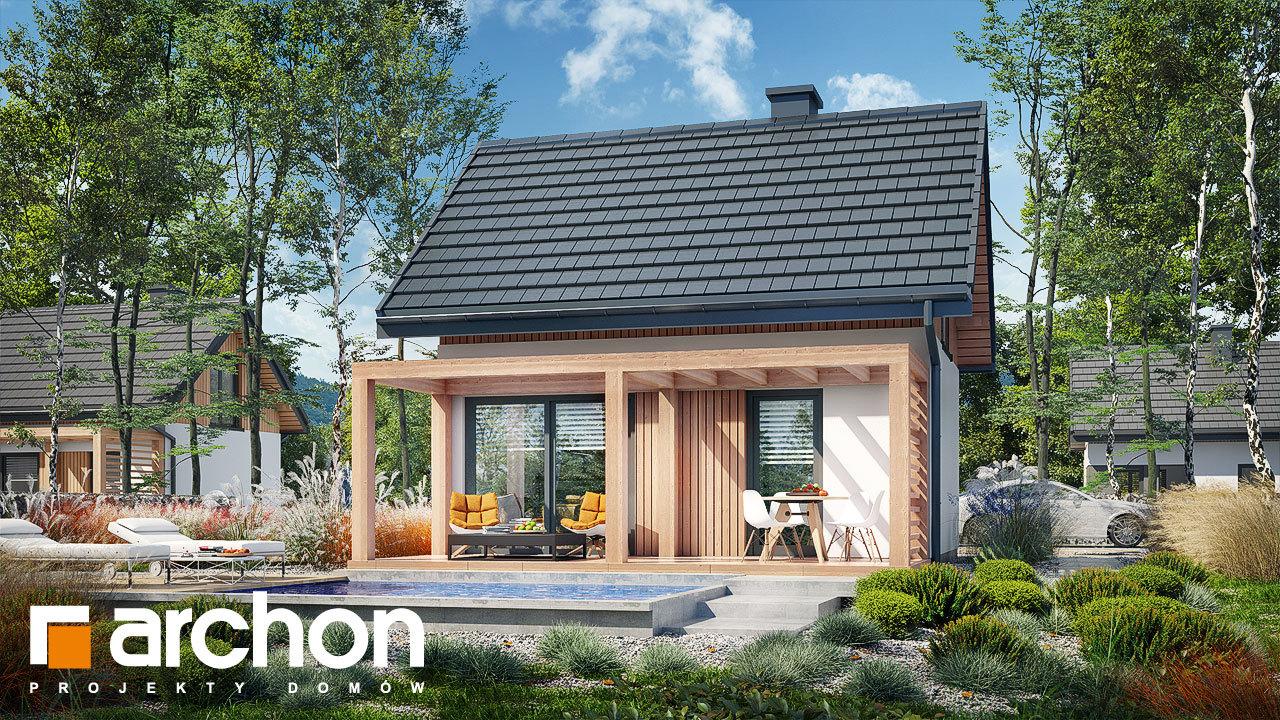 Проект будинку ARCHON+ Літній будиночок в крокусах 5