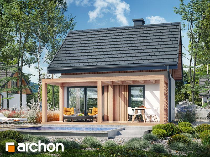Проект будинку ARCHON+ Літній будиночок в крокусах 5 Вид 1