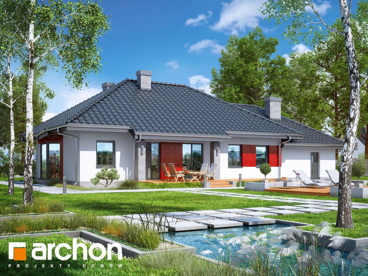 Проект будинку ARCHON+ Будинок в гаурах (Г2Н) Вид 2