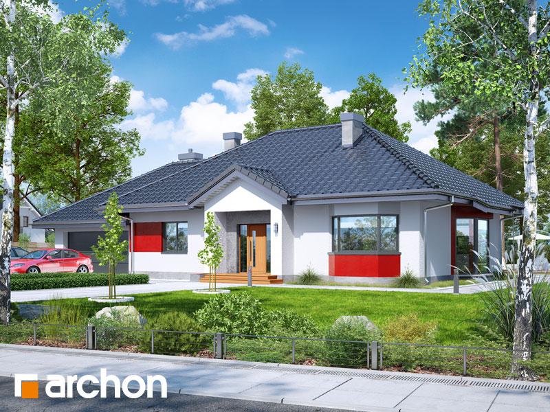 Проект будинку ARCHON+ Будинок в гаурах (Г2Н) Вид 1
