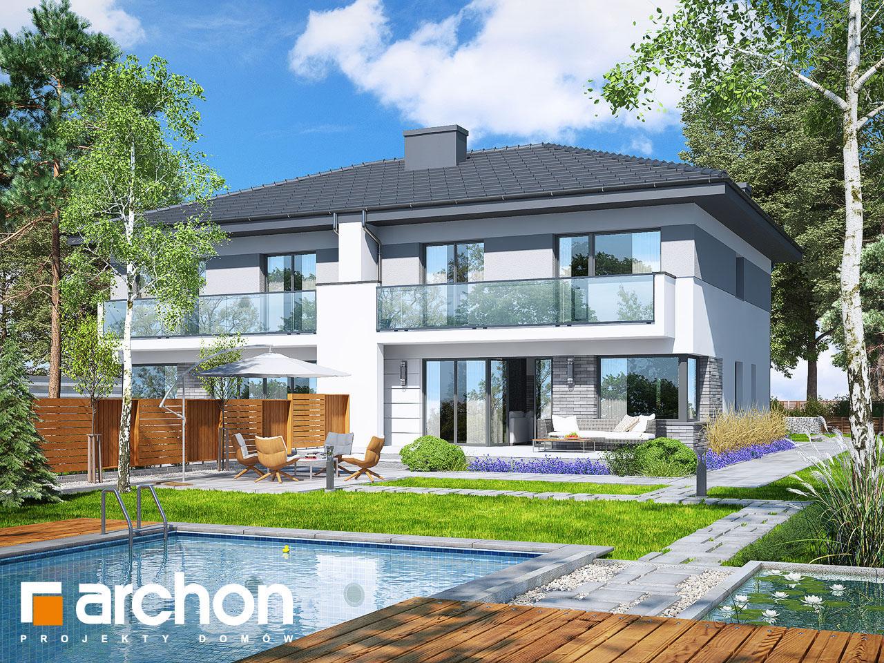 Проект будинку ARCHON+ Вілла Юлія 4 стилізація 4