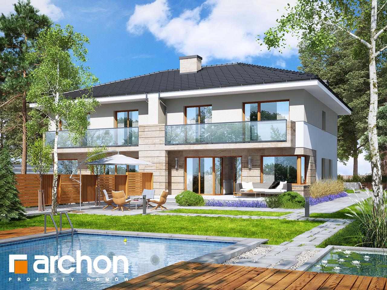 Проект будинку ARCHON+ Вілла Юлія 4 Вид 2