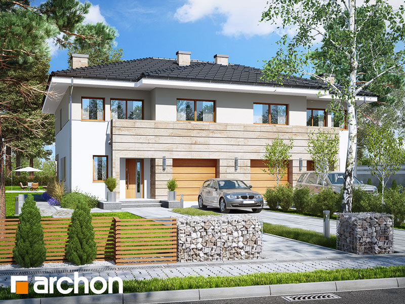 Проект будинку ARCHON+ Вілла Юлія 4 Вид 1