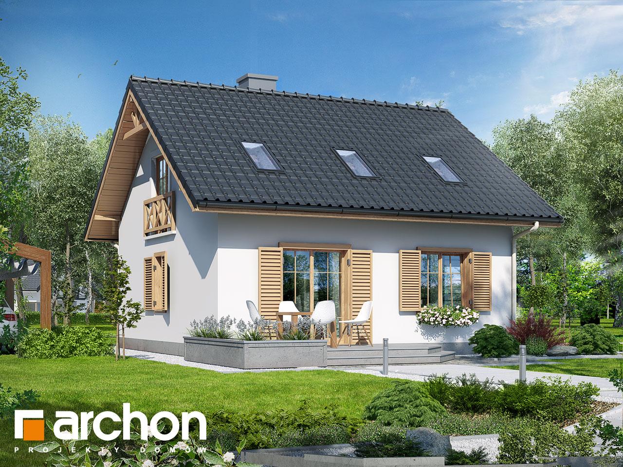Проект будинку ARCHON+ Будинок — Мініатюрка (Т) Вид 2