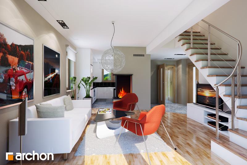 Проект будинку ARCHON+ Будинок — Мініатюрка (Т) денна зона (візуалізація 1 від 1)