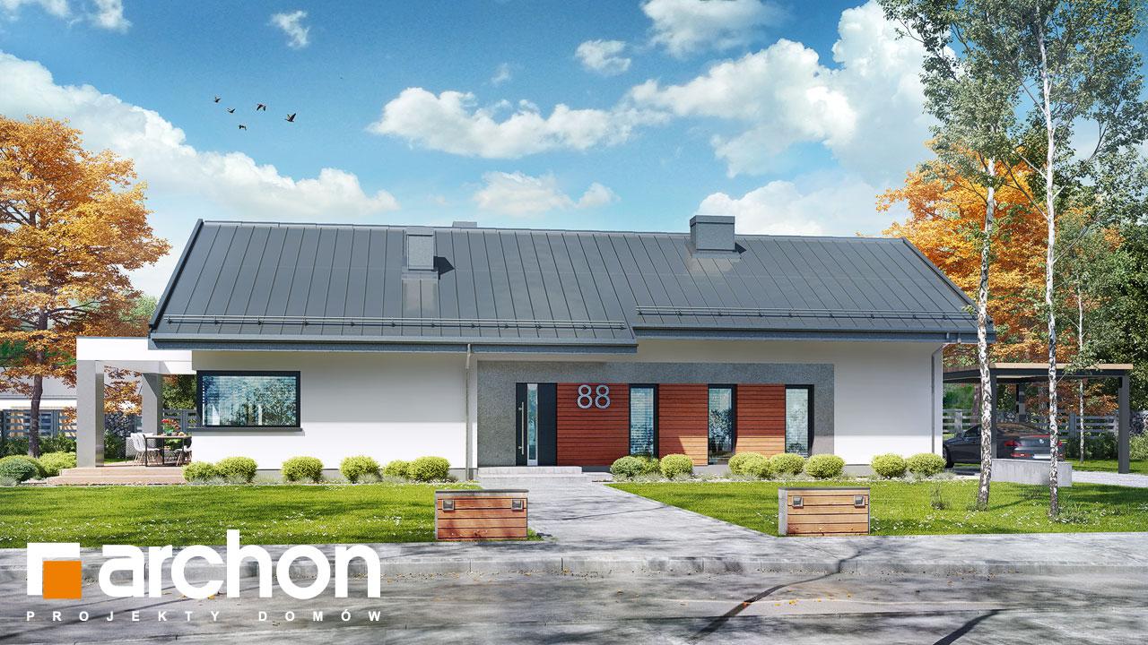 Проект будинку ARCHON+ Будинок в пепероміях 4 Вид 2