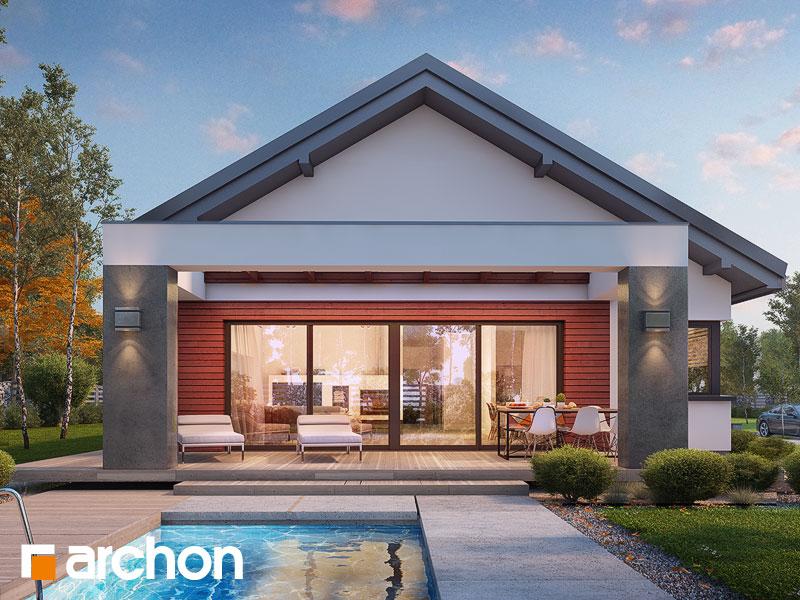 Проект дома ARCHON+ Дом в пеперомиях 4 Вид 1