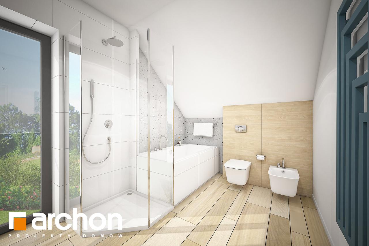 Проект будинку ARCHON+ Будинок в малинівці (Г) візуалізація ванни (візуалізація 3 від 2)