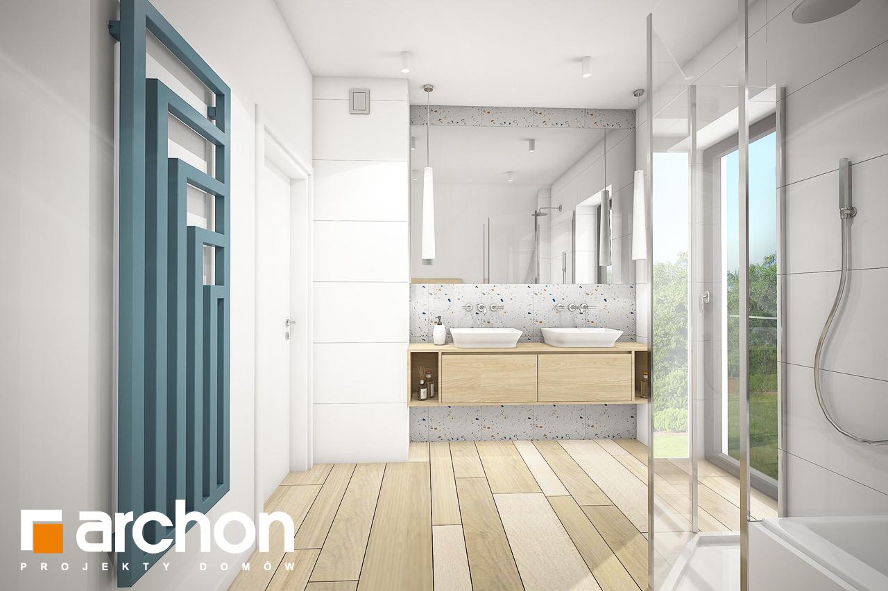 Проект будинку ARCHON+ Будинок в малинівці (Г) візуалізація ванни (візуалізація 3 від 3)