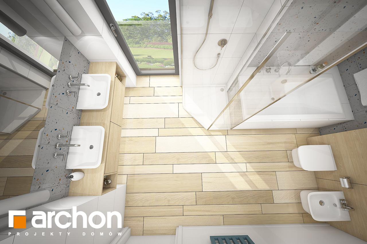 Проект будинку ARCHON+ Будинок в малинівці (Г) візуалізація ванни (візуалізація 3 від 4)