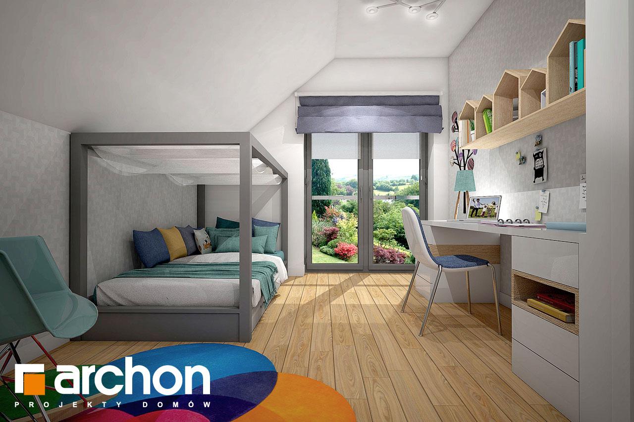Проект будинку ARCHON+ Будинок в малинівці (Г) нічна зона (візуалізація 2 від 1)