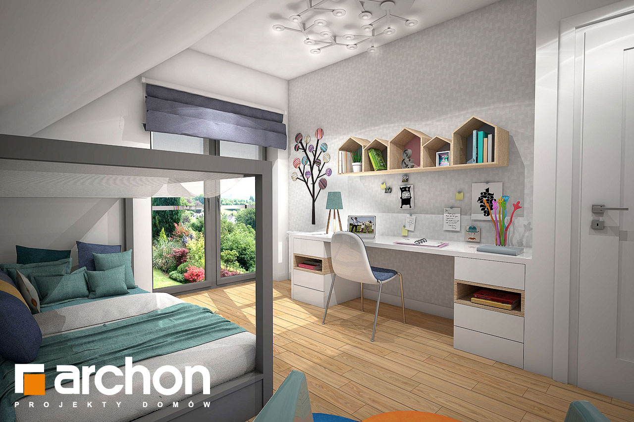 Проект будинку ARCHON+ Будинок в малинівці (Г) нічна зона (візуалізація 2 від 2)