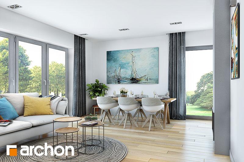 Проект будинку ARCHON+ Будинок в малинівці (Г) денна зона (візуалізація 1 від 2)