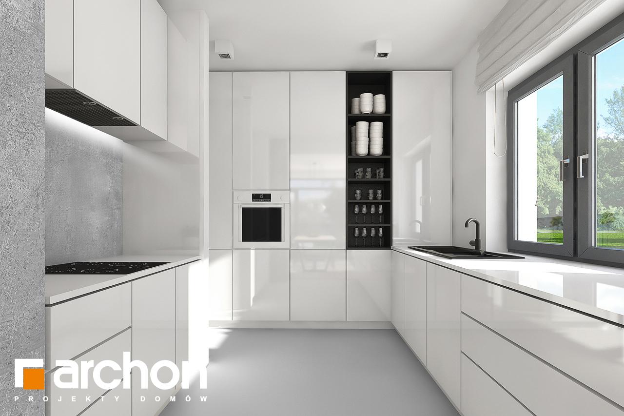 Проект будинку ARCHON+ Будинок під хікорою 2 візуалізація кухні 1 від 1