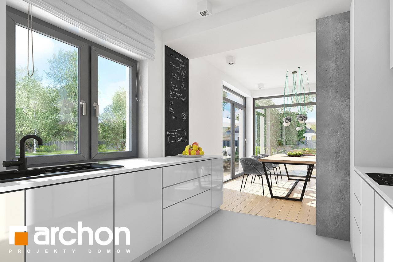 Проект будинку ARCHON+ Будинок під хікорою 2 візуалізація кухні 1 від 2