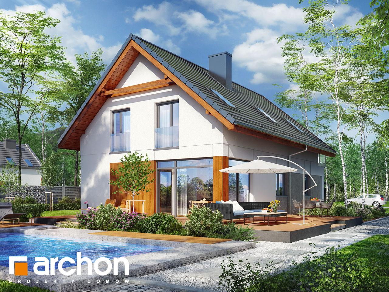 Проект будинку ARCHON+ Будинок під хікорою 2 Вид 2