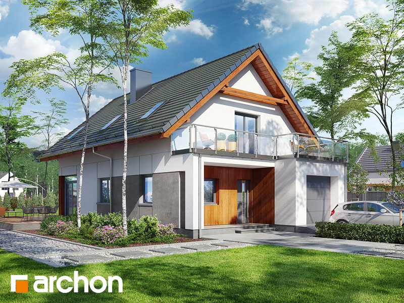 Проект будинку ARCHON+ Будинок під хікорою 2 Вид 1