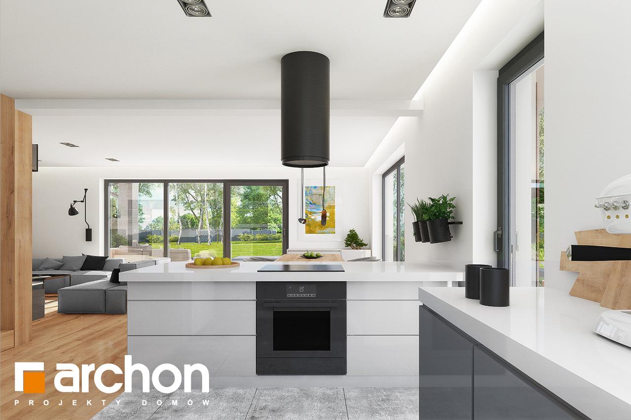 Проект будинку ARCHON+ Будинок в аурорах 7 візуалізація кухні 1 від 3