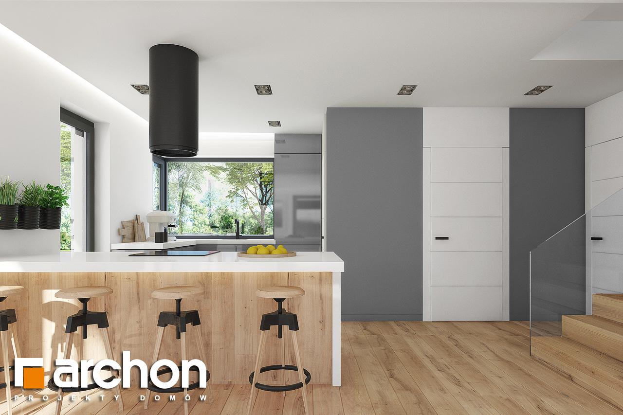 Проект дома ARCHON+ Дом в аурорах 7 визуализация кухни 1 вид 1