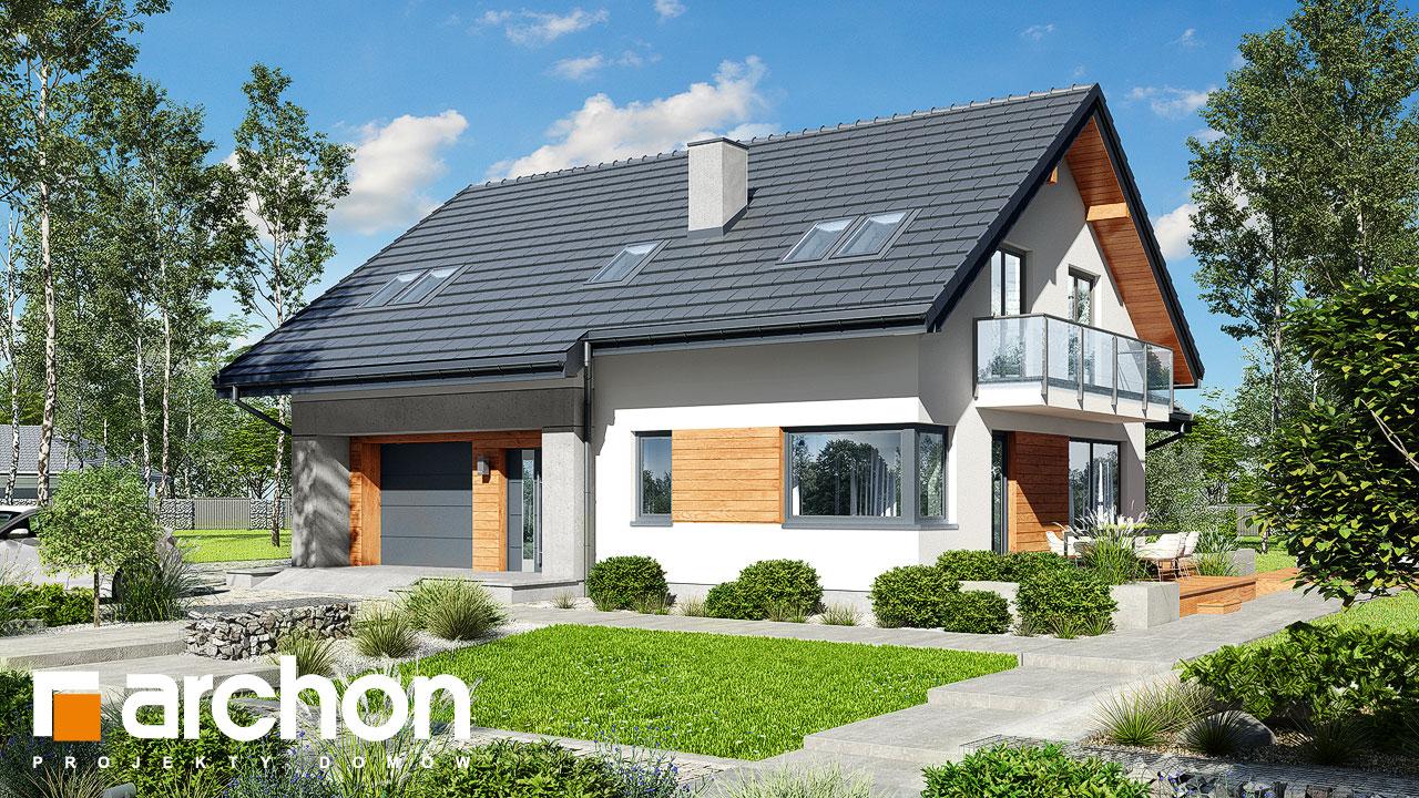 Проект будинку ARCHON+ Будинок в аурорах 7 Вид 2