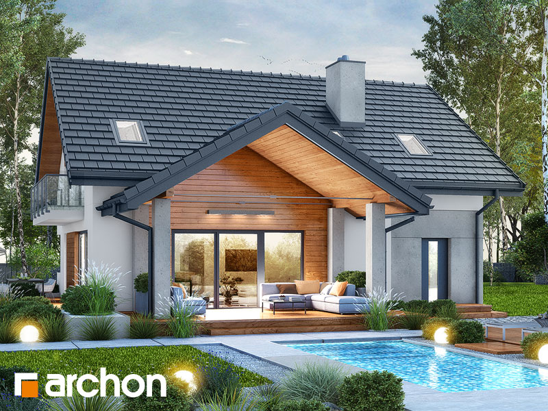 Проект будинку ARCHON+ Будинок в аурорах 7 Вид 1
