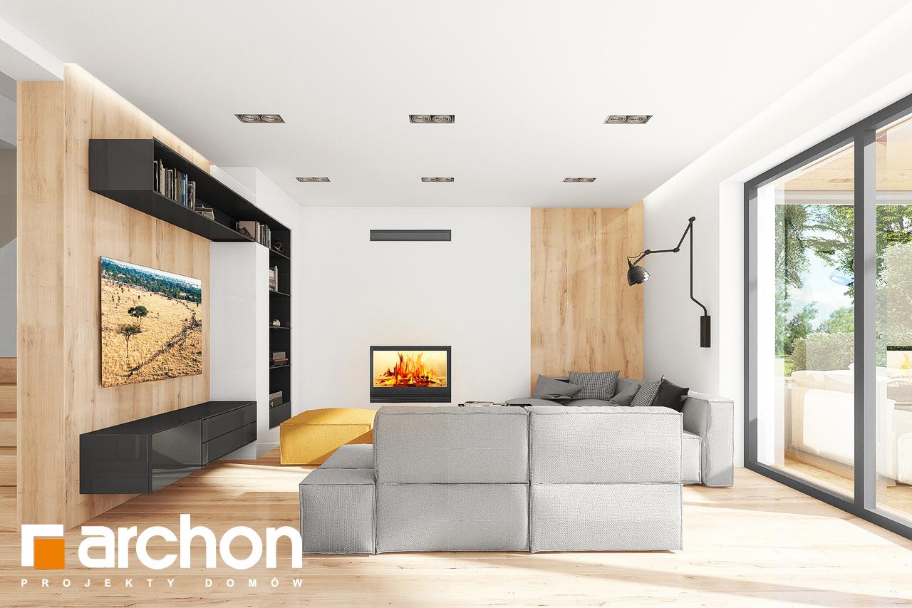 Проект дома ARCHON+ Дом в аурорах 7 дневная зона (визуализация 1 вид 1)