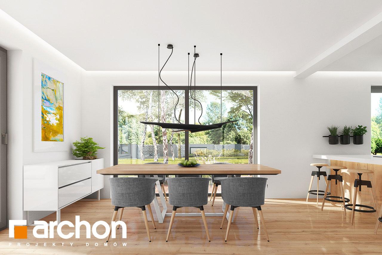 Проект дома ARCHON+ Дом в аурорах 7 дневная зона (визуализация 1 вид 2)