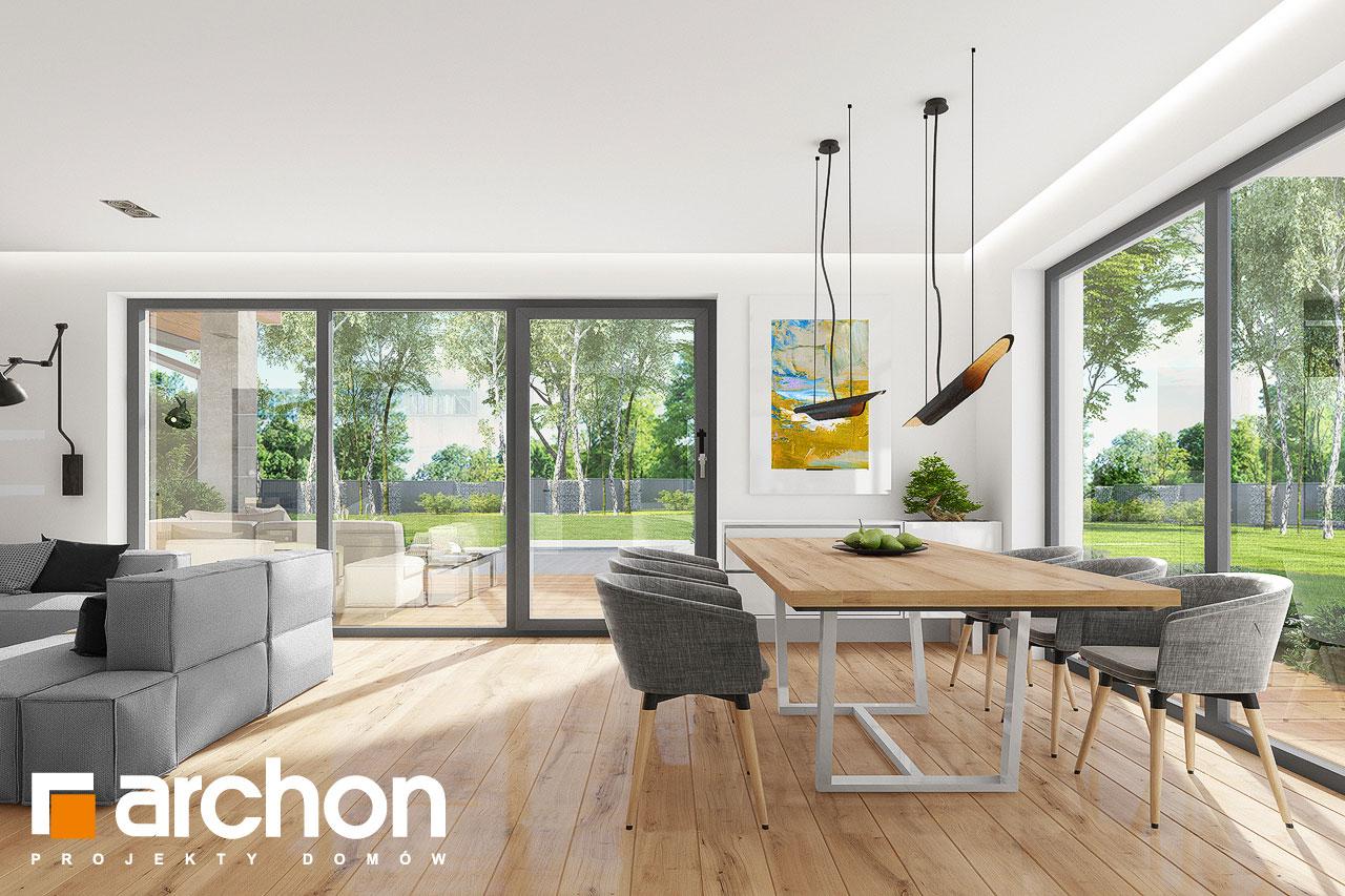 Проект дома ARCHON+ Дом в аурорах 7 дневная зона (визуализация 1 вид 3)