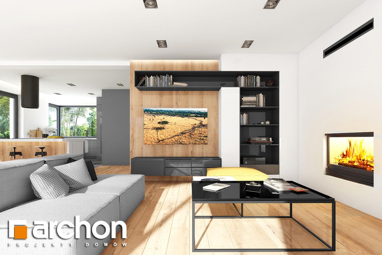 Проект дома ARCHON+ Дом в аурорах 7 дневная зона (визуализация 1 вид 4)