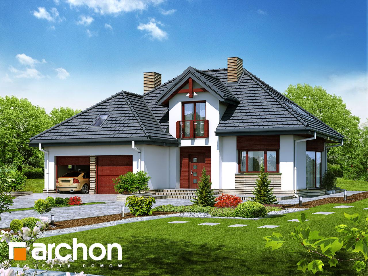 Проект будинку ARCHON+ Будинок в каллатеях 2 ver.2 додаткова візуалізація