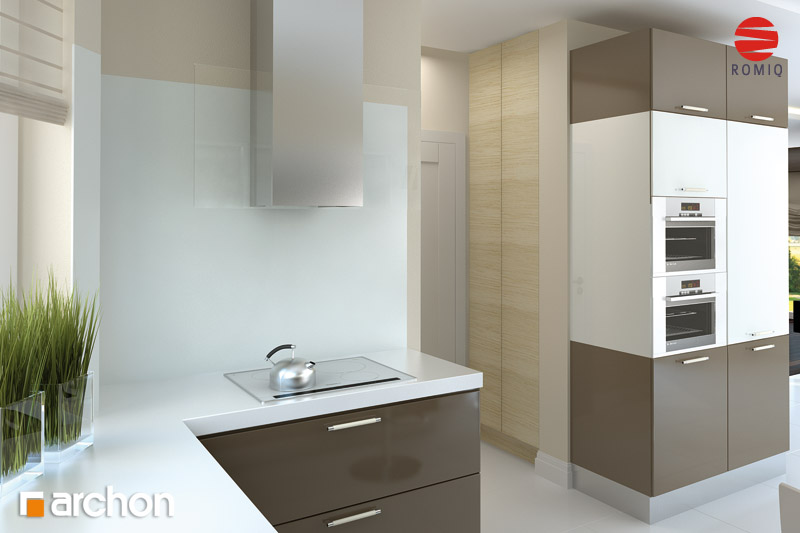 Проект будинку ARCHON+ Будинок в каллатеях 2 вер.2 аранжування кухні 1 від 3