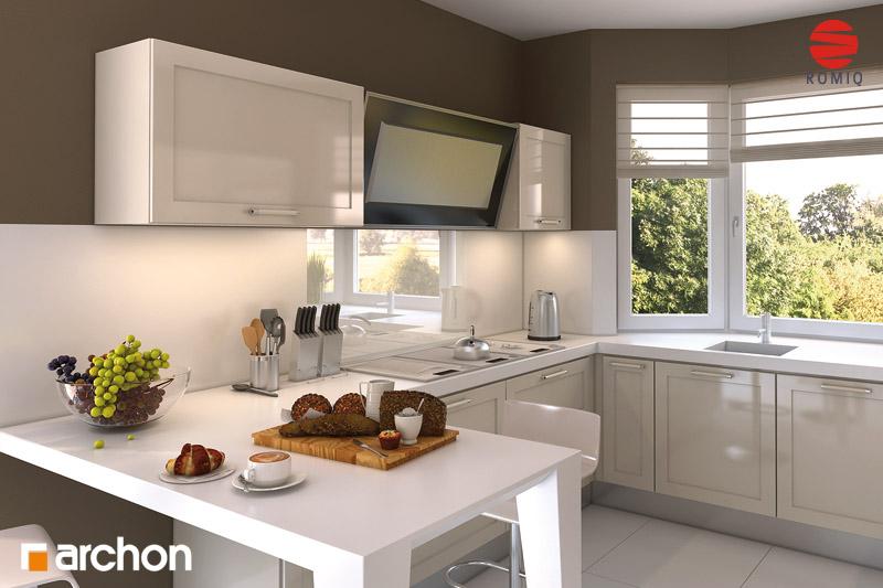 Проект будинку ARCHON+ Будинок в каллатеях 2 ver.2 аранжування кухні 2 від 2
