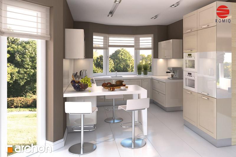 Проект будинку ARCHON+ Будинок в каллатеях 2 вер.2 аранжування кухні 2 від 1