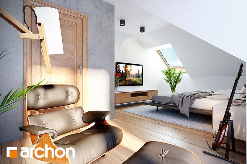 Проект будинку ARCHON+ Будинок в каллатеях 2 ver.2 нічна зона (візуалізація 1 від 2)