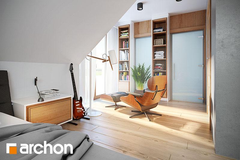 Проект будинку ARCHON+ Будинок в каллатеях 2 вер.2 нічна зона (візуалізація 1 від 3)