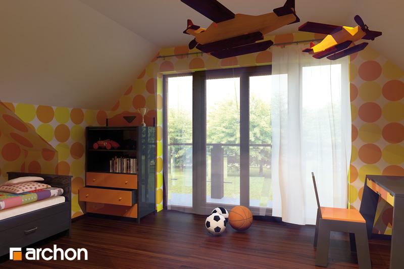 Проект будинку ARCHON+ Будинок в каллатеях 2 вер.2 нічна зона (візуалізація 2 від 2)
