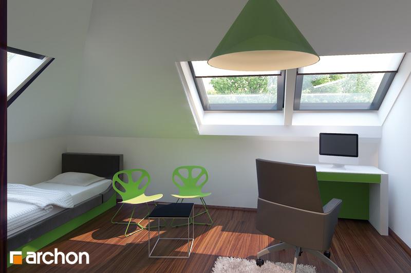 Проект будинку ARCHON+ Будинок в каллатеях 2 вер.2 нічна зона (візуалізація 2 від 3)