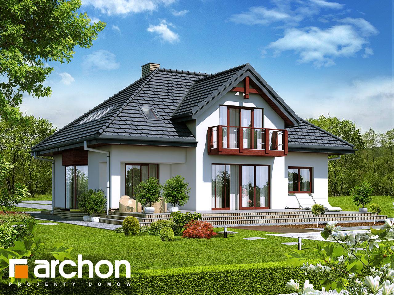 Проект будинку ARCHON+ Будинок в каллатеях 2 вер.2 Вид 2