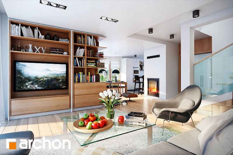 Проект будинку ARCHON+ Будинок в каллатеях 2 ver.2 денна зона (візуалізація 1 від 1)