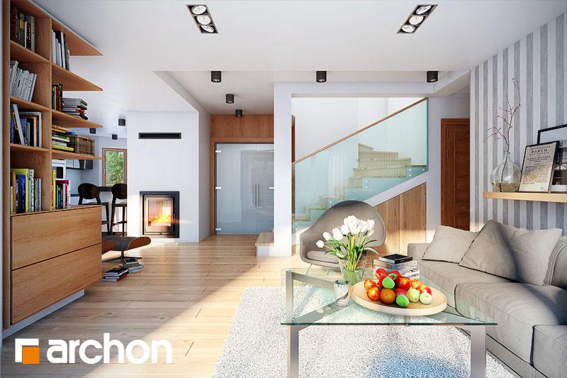 Проект будинку ARCHON+ Будинок в каллатеях 2 вер.2 денна зона (візуалізація 1 від 2)