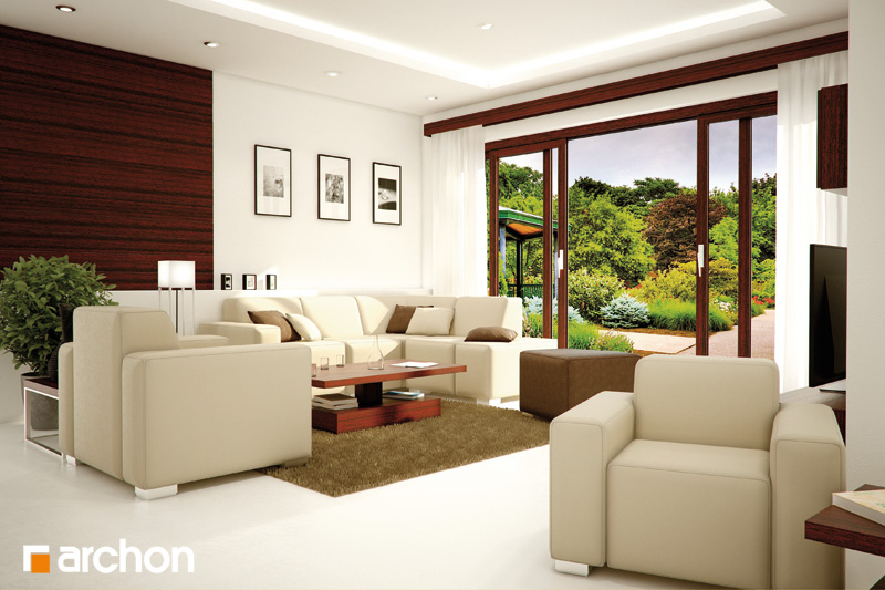 Проект будинку ARCHON+ Будинок в каллатеях 2 вер.2 денна зона (візуалізація 3 від 1)