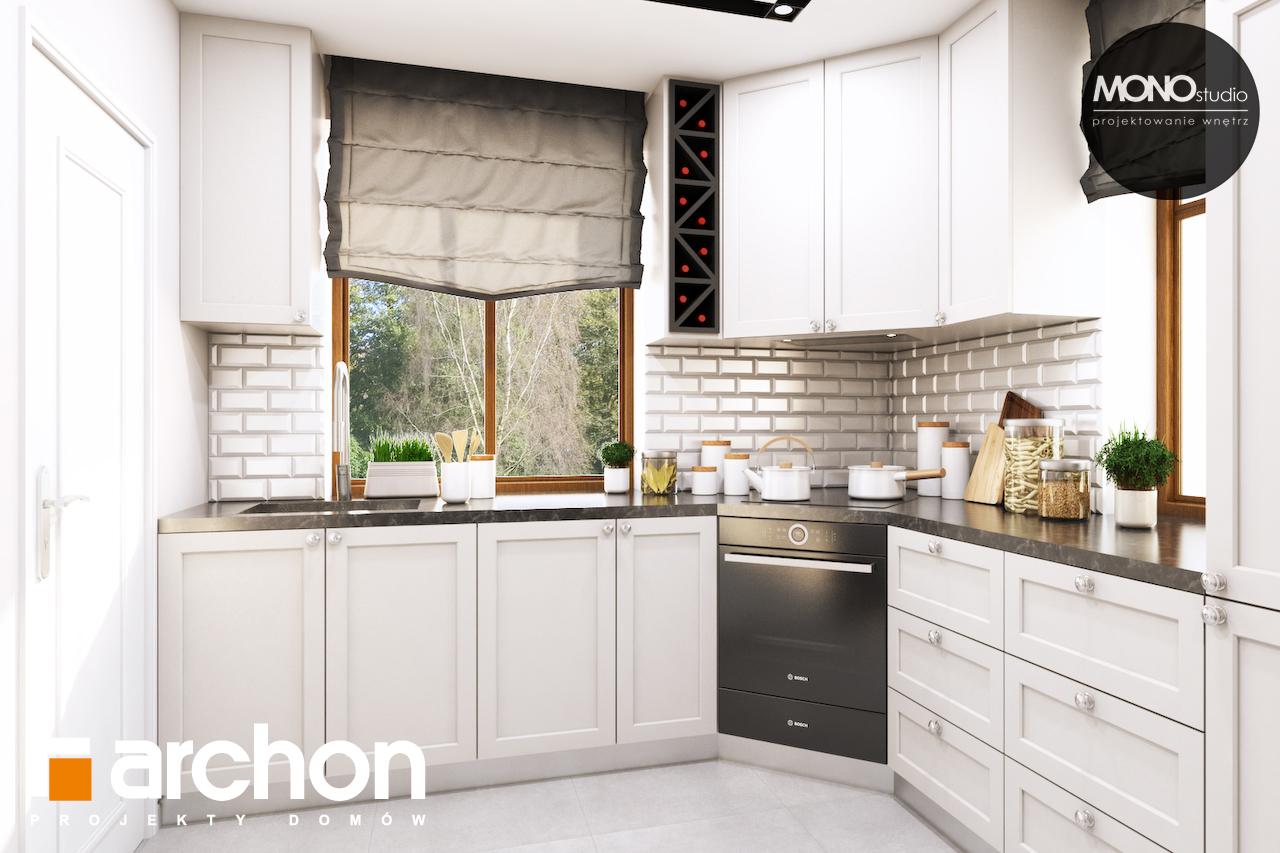 Проект будинку ARCHON+ Будинок в рододендронах 6 (П) візуалізація кухні 1 від 1