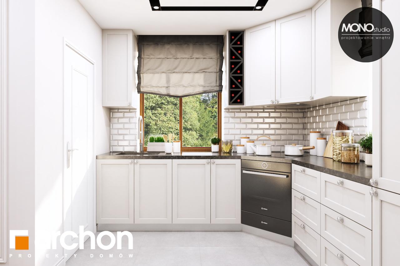 Проект будинку ARCHON+ Будинок в рододендронах 6 (П) візуалізація кухні 1 від 3